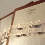 Wire Beads Wedding Invitation
