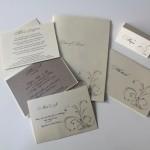Swirls Vector Wedding Invitation