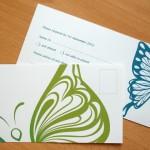 RSVP - Butterfly Vector Stationery