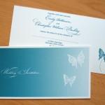 Wedding Invitation - Butterfly Vector Stationery