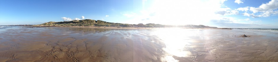 Seahouses dunes view